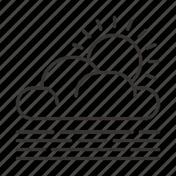 cloud, clouds, precipitation, sun, weather icon