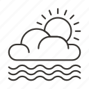 cloud, clouds, precipitation, sun, weather icon