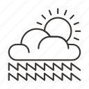 cloud, clouds, precipitation, weather icon
