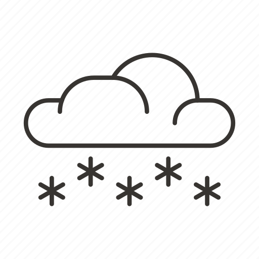 cloud, clouds, precipitation, snow, snowflake, weather, winter icon