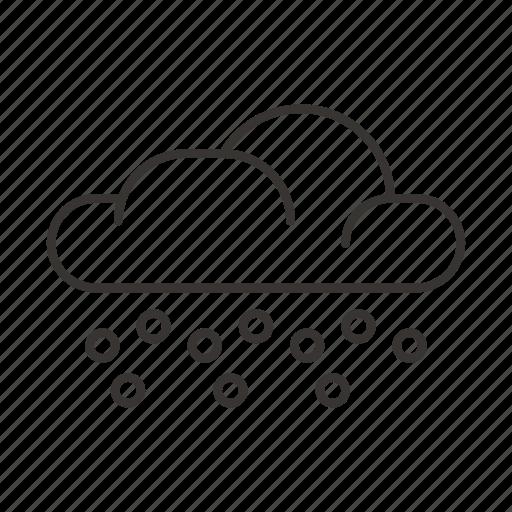 cloud, clouds, hail, precipitation, weather icon