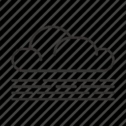 cloud, clouds, precipitation, weather icon