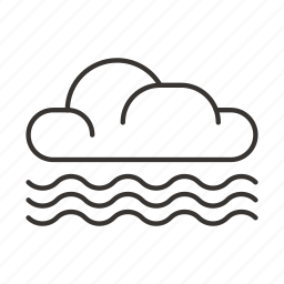cloud, clouds, precipitation, wave, weather icon