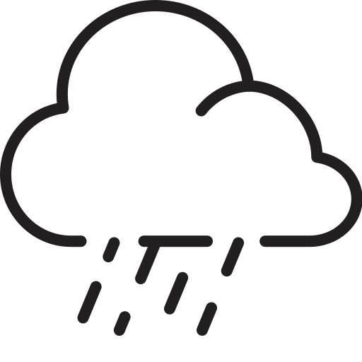 cloud, downpour, rain, weather icon