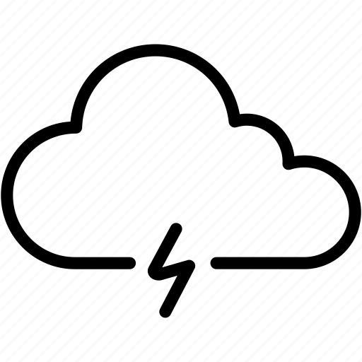 cloud, cloudy, electricity, light, storm, thundercloud, weather icon