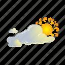 cloud, sun, clouds, forecast, weather