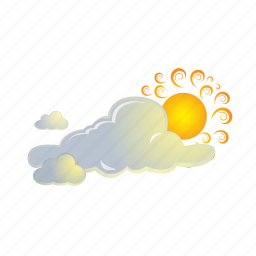 cloud, clouds, forecast, sun, weather icon