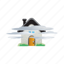 cloud, fog, forecast, house, weather icon