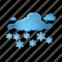cloud, snow, snowflake, weather, winter icon