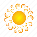 day, forecast, sun, sunny, temperature, weather icon
