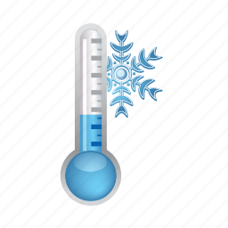 cold, snowflake, temperature, thermometer, weather icon