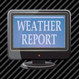 analytics, forecast, report, tv, weather icon