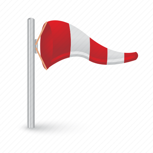 direction, flag, weather, wind, windy icon