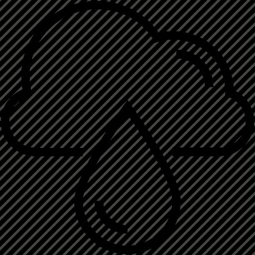 cloud, cloud drop, drop, raindrop, raining icon