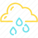 cloud, forecast, rain, raining, waterdrop icon