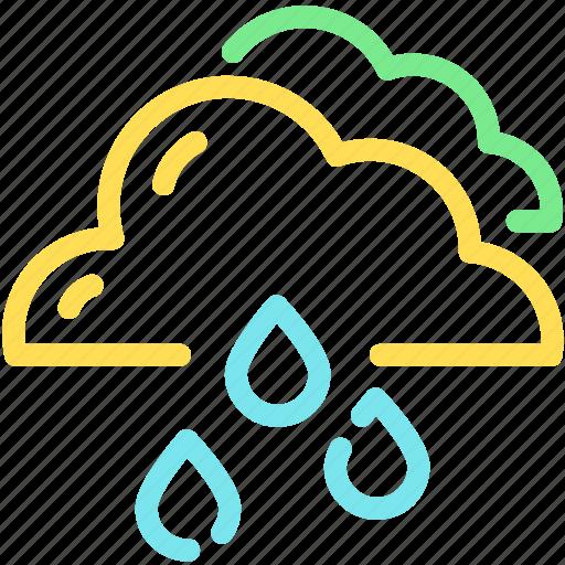 cloud, forecast, rain, raining, waterdrop icon