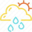 clean, cloud, forecast, rain, sun icon