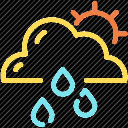 clean, cloud, forecast, rain, sun icon