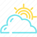cloud, cloudy, forecast, sun icon