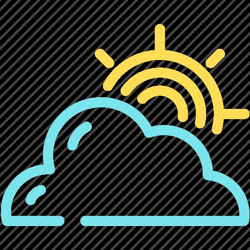 cloud, cloudy, forecast, sun icon