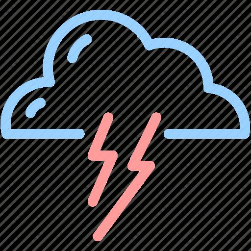 cloud, forecast, lightning, thunder icon