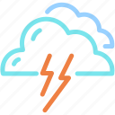 cloud, forecast, lightning, storm, thunder icon