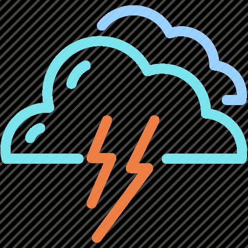 cloud, forecast, lightning, storm, thunder icon