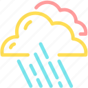 cloud, cloudy, forecast, rain, raining icon