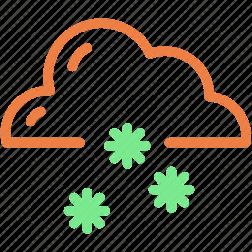 cloud, forecast, snow, snowflake, winter icon