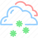 cloud, forecast, snow, snowflake, snowy, winter icon