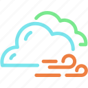 cloud, cloudy, forecast, wind, windy icon
