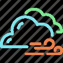 cloud, cloudy, forecast, wind, windy
