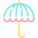 forecast, insruance, protection, rain, umprella icon