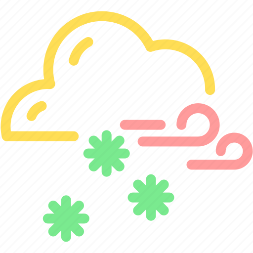 cloud, cloudy, forecast, snow, snowflake, winter icon