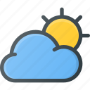 cloud, cloudy, day, forcast, weather icon