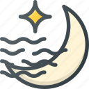 fog, foggy, forcast, night, weather icon