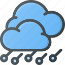 forcast, hailstorm, storm, weather icon