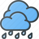 forcast, hard, rain, storm, weather icon