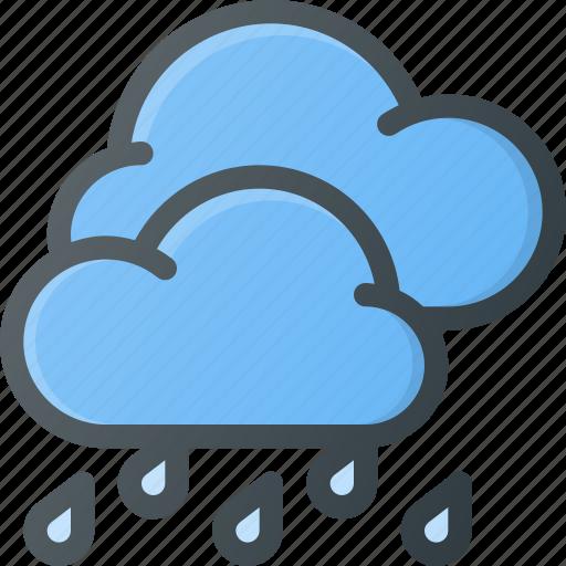 forcast, hard, rain, storm, weather icon