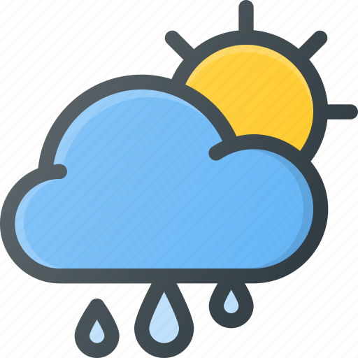 Cloud, weather, day, rain, forcast icon