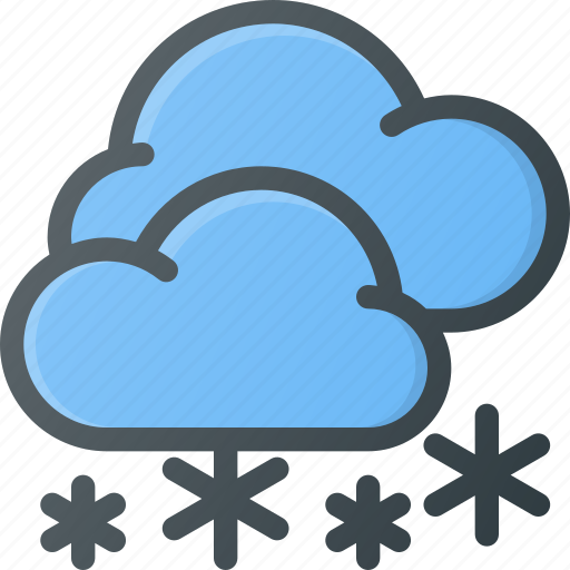 Snowing, forcast, weather, snow, snowy icon