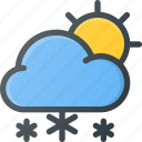 day, forcast, snow, snowing, snowy, weather icon