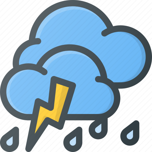 forcast, rain, storm, thunder, weather icon