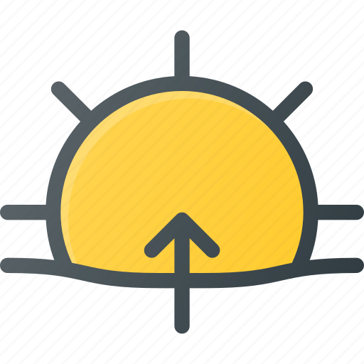day, forcast, rise, sun, sunny, sunrise, weather icon