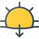 day, forcast, set, sun, sunny, sunset, weather icon