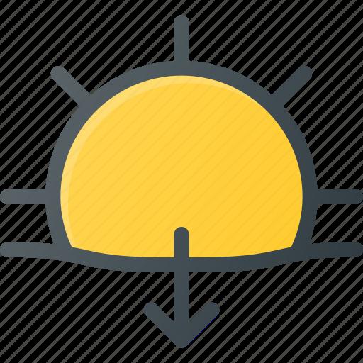 day, forcast, set, sun, sunny, sunset, weather icon