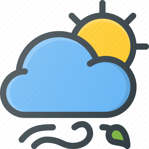 day, forcast, weather, wind, windy icon