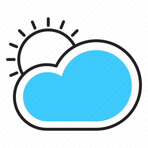 cloud, forcast, sun, sunny day, weather icon