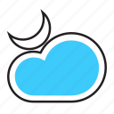 cloud, forcast, moon, weather icon