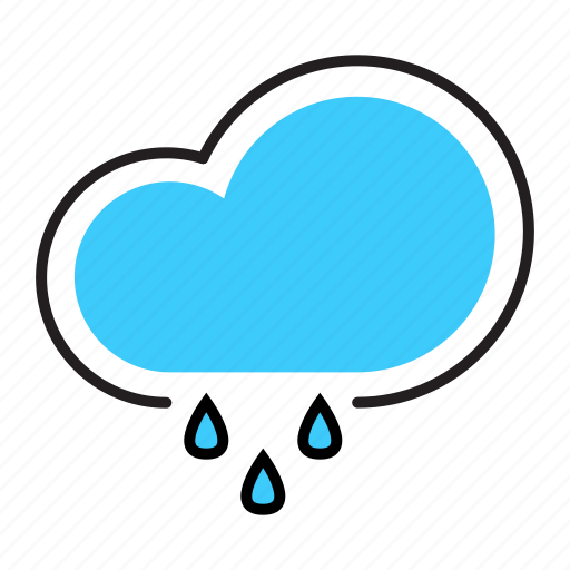 climate, cloud, rain, raining, weather icon